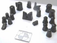 Фото: шахматы, найденные в Великом Новгороде в слоях XIV века