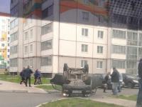 Фото: в «Ивушках» автомобиль в результате ДТП перевернулся на крышу