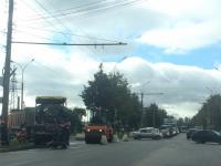 Фотофакт: в Колмове идёт ремонт дороги
