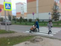 Фотофакт: в Великом Новгороде пешеходный переход сделали «на отвали»