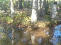 Фотофакт: в Великом Новгороде затопило ряд кварталов Западного кладбища