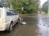 Солнце стало причиной утреннего ДТП на Большой Московской в Великом Новгороде