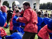 В Великом Новгороде казаки почтили память Александра Невского молитвой и кулачным боем