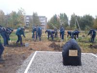 Фото: в Деревяницах открыли сквер в честь 85-летия гражданской обороны России