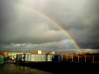 Фотофакт: октябрьская радуга в Великом Новгороде