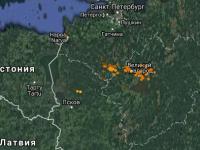 Над Великим Новгородом в середине октября разбушевалась гроза