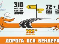 Пёс Бендер начал инспектировать новгородские дороги по заданию ОНФ