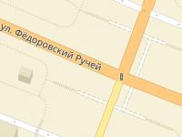 В который раз автомобиль врезался в ограду подземного перехода на Федоровском ручье
