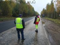 Видео: укладка асфальта на дороге Крестцы-Окуловка-Боровичи в дождь