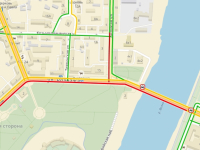 10:30: пробка в центре Великого Новгорода не дает выехать из центра на Торговую сторону