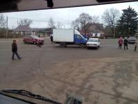Фотофакт: «газелист» протаранил «семёрку» под Великим Новгородом