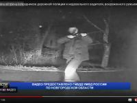 Видео: дебошир с ружьём угрожает инспекторам ДПС