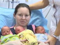 Журналисты встретились с мамой и ее милыми тройняшками в новгородском роддоме