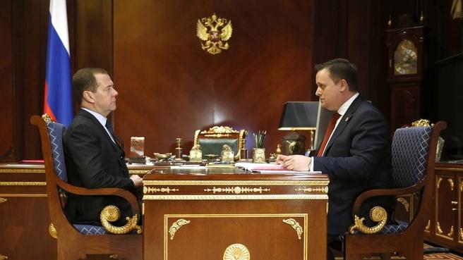 Андрей Никитин прокомментировал встречу с Дмитрием Медведевым