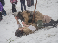 Фото: реконструкция битвы новгородцев с суздальцами