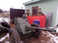Новгородские ветераны помогли отреставрировать противотанковую пушку
