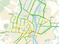 Обзор ситуации с автомобильными пробками в Великом Новгороде