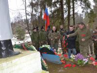 В Парфинском районе открыли реконструированную часть воинского захоронения Ясная Поляна