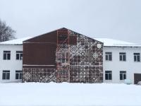 Здание «Крестецкой строчки» покрывают нарисованным кружевом