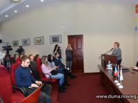 Елена Писарева встретилась со студентами-журналистами