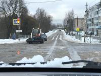 Фотофакт: уборка снега по-валдайски