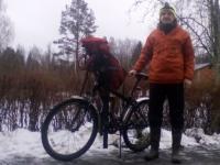 Новгородец рассказал о том, как он зимой два дня путешествовал по области на велосипеде