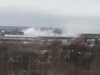 В промзоне Великого Новгорода произошел пожар