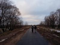 В Великом Новгороде на участке велопешеходного маршрута до Юрьева обновили асфальт