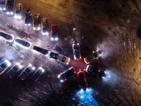 Видео: вид сверху на автоёлку в Великом Новгороде