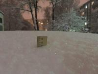 Фото: на сколько сантиметров прошедший в Новгороде снег смог завалить машину?