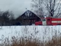 Пожар разрушил дом в Чудове