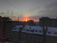 В морозное утро новгородцы любовались красивым оптическим эффектом