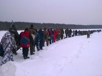 В Боровичском районе школьникам удалось обойти заядлых рыбаков на соревнованиях по подледному лову