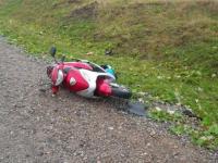 В Маловишерском районе в ДТП выжил 65-летний скутерист