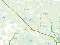 В Новгородской области на М-10 образовалась огромная пробка