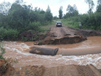 В Новгородской области на местах размывов пяти трасс уже работают дорожники