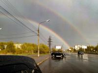 Фото: небо подарило Великому Новгороду двойную радугу