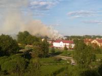 В здании новгородского военного госпиталя вновь произошел пожар