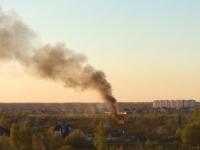 Второй раз за день рядом с новгородским гипермаркетом «Магнит» произошел пожар