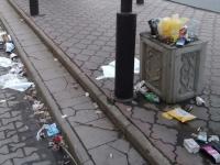 Автобусная остановка в центре Великого Новгорода превратилась в клоаку