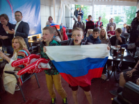 Команда НТ и новгородские болельщики запечатлели исторический момент российской сборной
