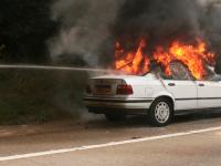 На трассе М-11 в Новгородском районе сгорел BMW