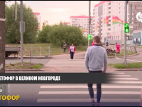 Видео: на улице Державина появился новый светофор