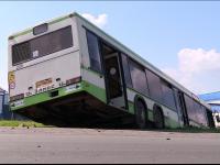 Фотофакт: в Новгородском районе автобус съехал в кювет из-за неисправности