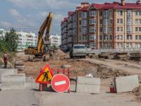 На участке Белорусской улицы в Великом Новгороде начали строительство дороги