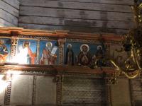 Над иконостасом деревянного храма Николы в «Витославлицах» трудятся студенты из Петербурга