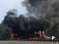 В Новгородском районе фура врезалась в автоцистерну: автомобили загорелись