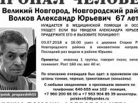 История с пропавшим новгородским инвалидом закончилась трагически