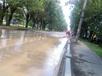 В Великом Новгороде подтопило часть улицы Большой Санкт-Петербургской