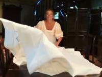 Юлия Высоцкая поделилась в Инстаграме мыслями  о новгородской чудо-скатерти